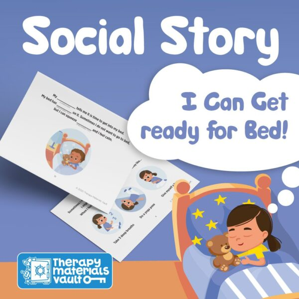 social story I can get ready for bed, sleep