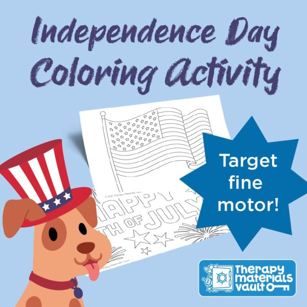 Independence Day coloring activity, Fourth of July