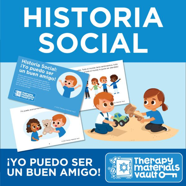 Social Story- I Can Be a Good Friend Spanish