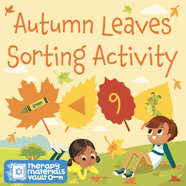 fall themed sorting activity