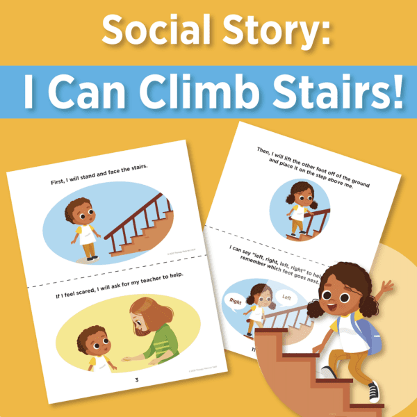 Social story I can climb stairs